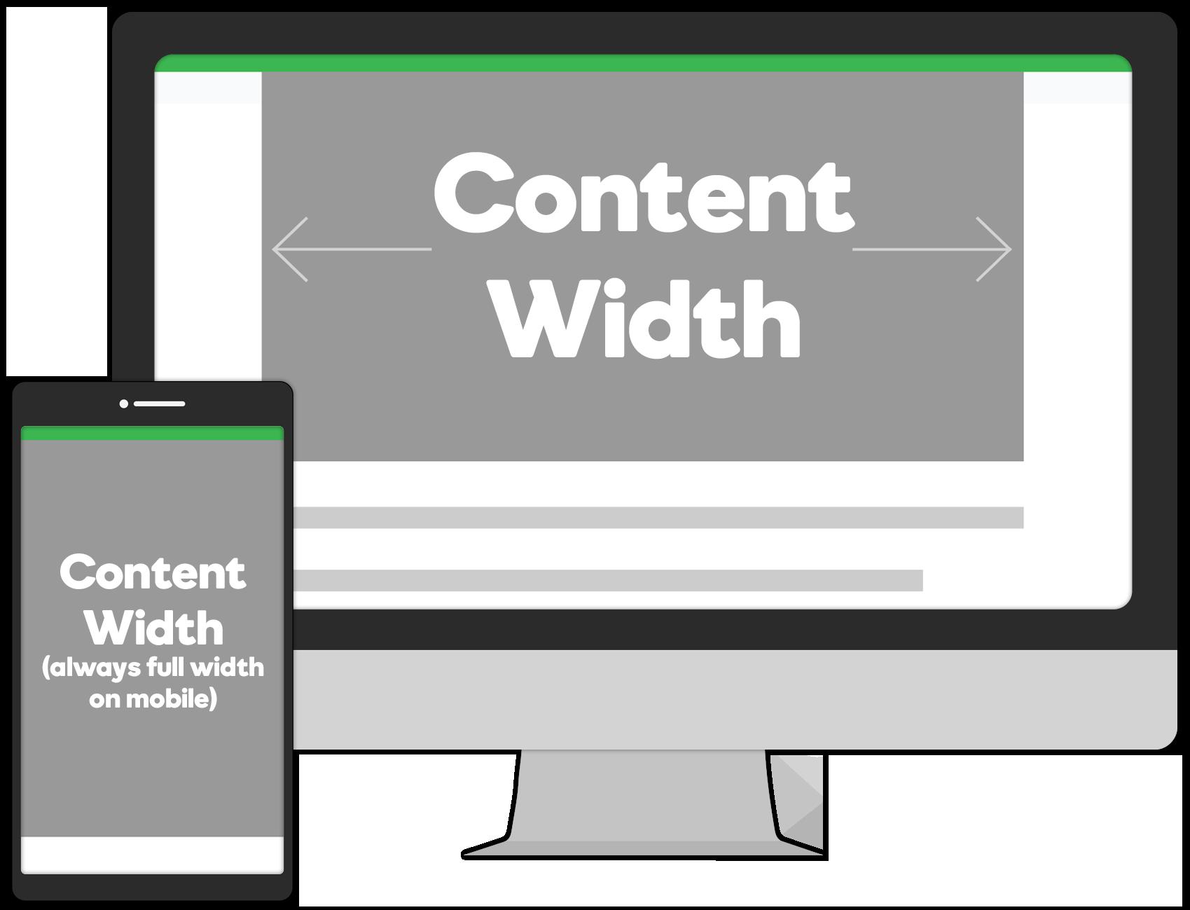 content width mob