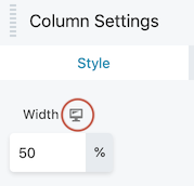 The responsive toggle icon