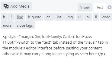 inline styling