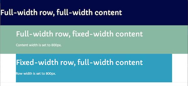 row widths