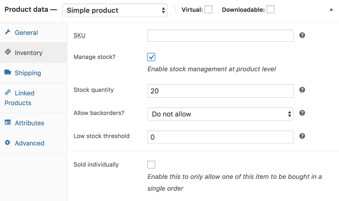 simpleproduct-inventory