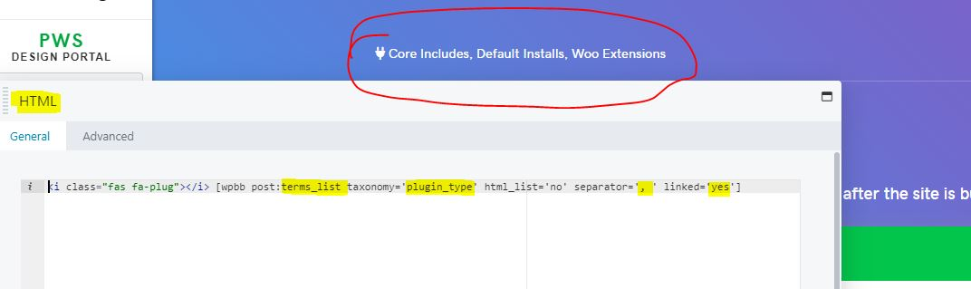 """Insert terms list shortcode to show terms from the """"plugin types"""" taxonomy"""