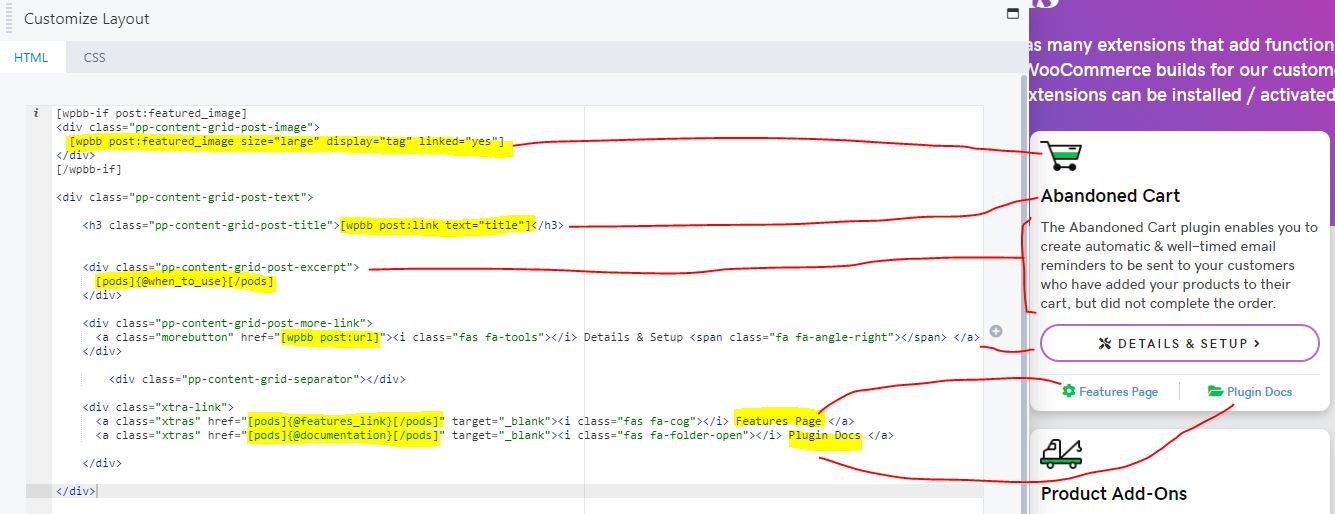 post type module html