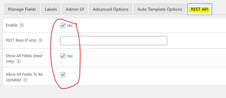 overall pod REST API tab